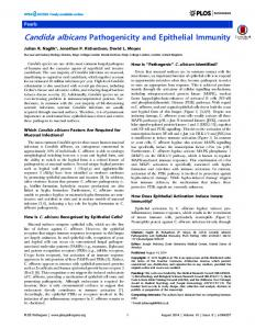 Candida albicans Pathogenicity and Epithelial ... - Semantic Scholar