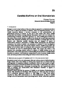 Candida Biofilms on Oral Biomaterials