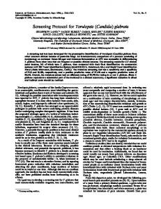 (Candida) glabrata - Journal of Clinical Microbiology - American ...