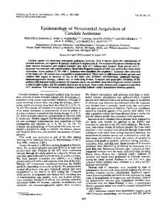 Candida lusitaniae - Journal of Clinical Microbiology - American ...
