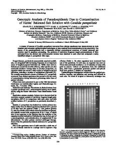 Candida parapsilosis - Journal of Clinical Microbiology - American ...