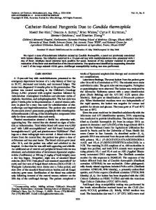 Candida thermophila - Journal of Clinical Microbiology - American ...