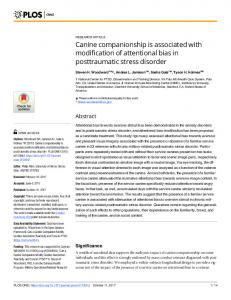 Canine companionship is associated with ... - Semantic Scholar