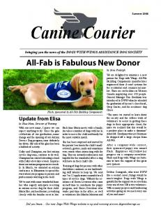 Canine Courier Spring 2008 - Dogs With Wings