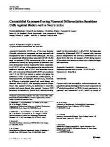 Cannabidiol Exposure During Neuronal