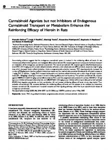 Cannabinoid Agonists but not Inhibitors of Endogenous ... - Nature