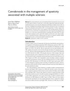 Cannabinoids in the management of spasticity