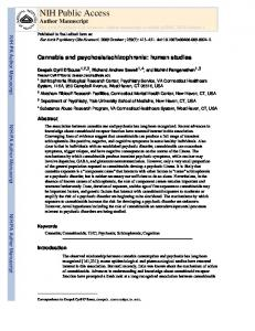 Cannabis and psychosis-schizophrenia human studies.pdf - Demeter