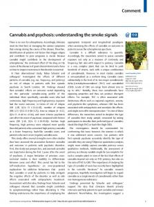 Cannabis and psychosis: understanding the smoke signals - The Lancet