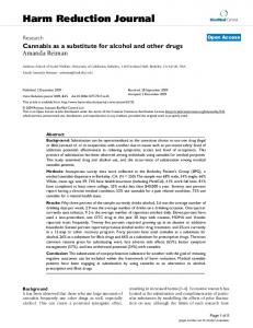 Cannabis as a substitute for alcohol and other drugs