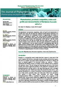 Cannabis sativa L. - The Journal of Phytopharmacology