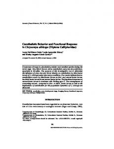 Cannibalistic Behavior and Functional Response in - Springer Link