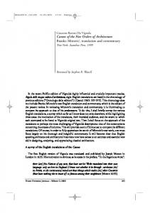Canon of the Five Orders of Architecture Branko ... - Springer Link