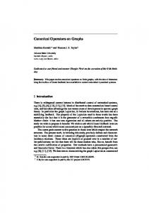 Canonical Operators on Graphs