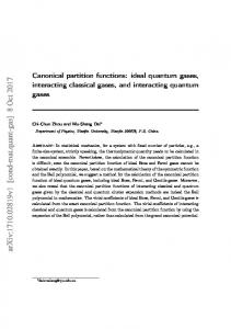 Canonical partition functions: ideal quantum gases, interacting ...
