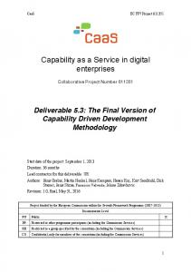 Capability as a Service in digital enterprises