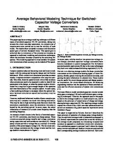 Capacitor Voltage Converters - Behavioral Modeling and Simulation ...