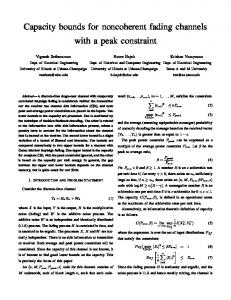 Capacity bounds for noncoherent fading channels with a peak constraint