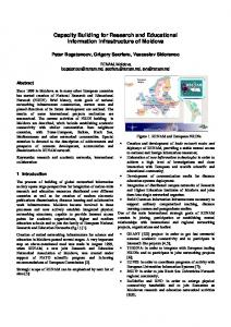 Capacity Building for Research and Educational