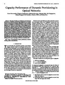 Capacity performance of dynamic provisioning in optical ... - CiteSeerX