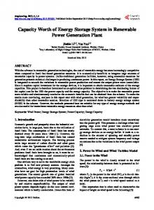 Capacity Worth of Energy Storage System in Renewable Power ...