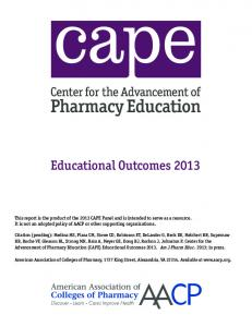 (CAPE) Educational Outcomes 2013 - AACP