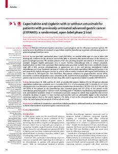 Capecitabine and cisplatin with or without cetuximab for patients with ...
