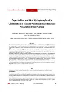 Capecitabine and Oral Cyclophosphamide Combination in Taxane ...