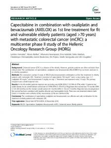 Capecitabine in combination with oxaliplatin and ... - BioMedSearch