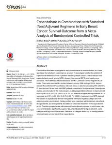 Capecitabine in Combination with Standard (Neo)Adjuvant ... - PLOS