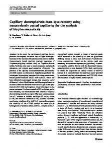 Capillary electrophoresis-mass spectrometry using ... - BioMedSearch