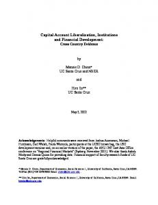 Capital Account Liberalization, Institutions and Financial ... - CiteSeerX