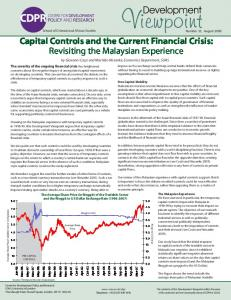 Capital Controls and the Current Financial Crisis - SOAS University of ...