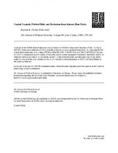Capital Controls, Political Risk, and Deviations from Interest-Rate Parity