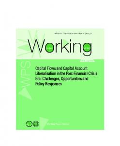 Capital Flows and Capital Account Liberalisation in the Post-Financial
