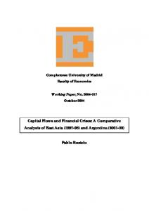 Capital Flows and Financial Crises - E-Prints Complutense