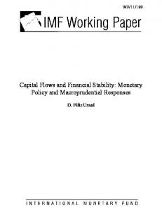 Capital Flows and Financial Stability: Monetary Policy - IMF