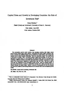 Capital Flows and Growth in Developing Countries