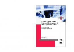 Capital Gains Taxes, Irreversible Investment, and ...
