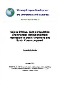 Capital inflows, bank deregulation and financial ... - Tufts University