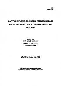 capital inflows, financial repression and macroeconomic policy