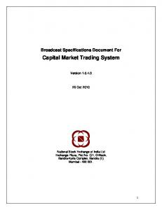 Capital Market Trading System - NSE