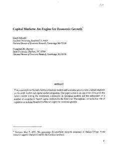 Capital Markets: An Engine for Economic Growth?