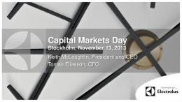 Capital Markets Day - Electrolux Group