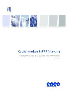 Capital Markets in PPP financing crisis - European Investment Bank
