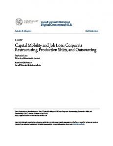 Capital Mobility and Job Loss: Corporate ...