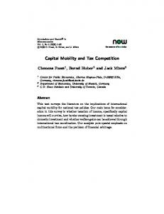 Capital Mobility and Tax Competition - Semantic Scholar