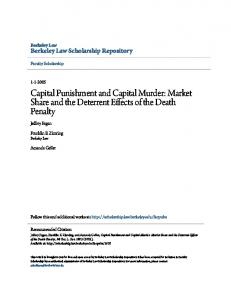 Capital Punishment and Capital Murder: Market ...