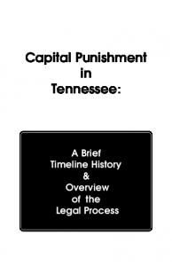 Capital Punishment in Tennessee - Tennessee Administrative Office ...