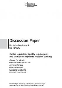 Capital regulation, liquidity requirements and taxation in a ... - SSRN